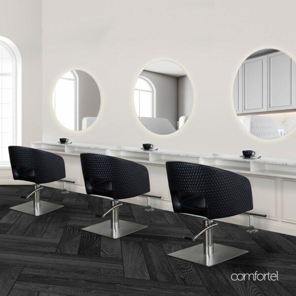 Circa Led Round Salon Mirror Comfortel, Round Salon Mirrors With Lights
