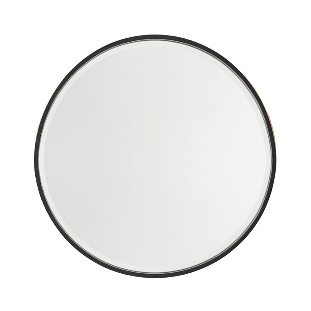 Nero Round Salon Mirror Comfortel